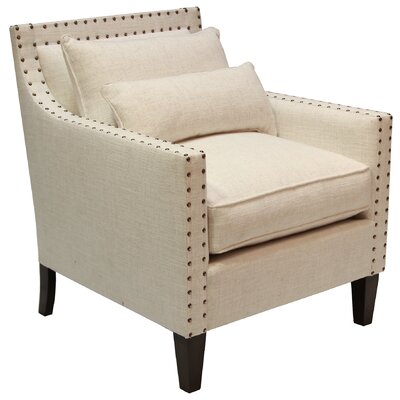 Alber Upholstered Armchair Body Fabric: Oatmeal Linen