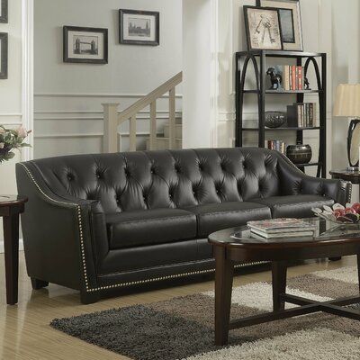 Tux Leather Sofa Color: Antique Coffee