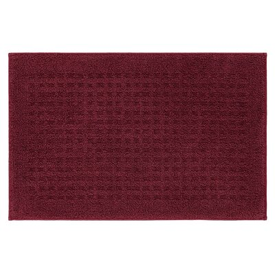 Berkine Bath Rug Size: 26 W x 72 L, Color: Cabernet