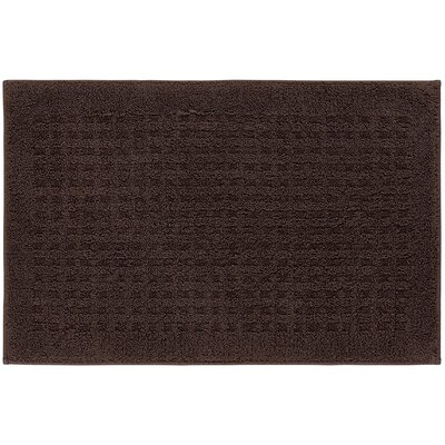 Berkine Bath Rug Size: 24 W x 36 L, Color: Chocolate