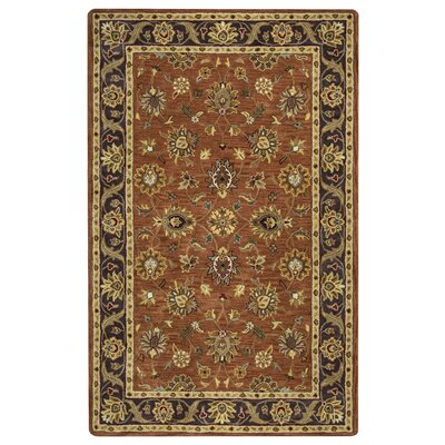 Lamothe Hand-Tufted Rust Area Rug Rug Size: 5 x 8
