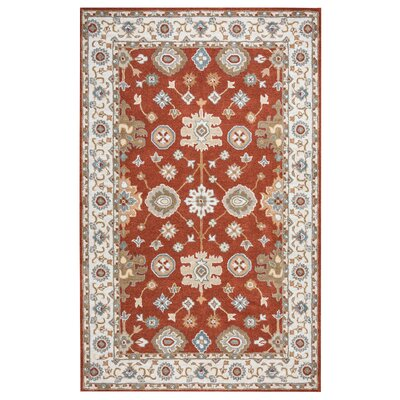 Lamothe Hand-Tufted Rust Area Rug Rug Size: 9 x 12