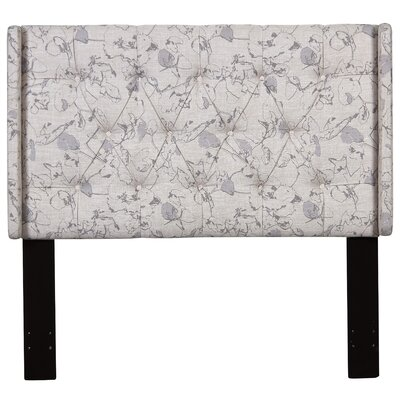 Basco Button Tufted Upholstered Panel Headboard Size: King