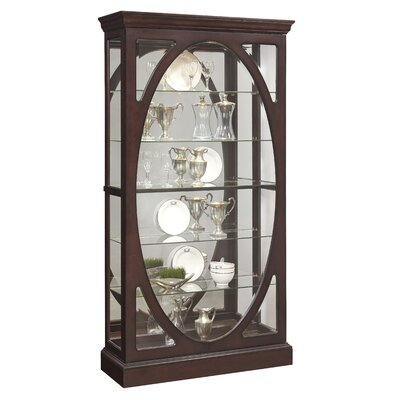 Olive Solid Wall Mounted Curio Cabinet