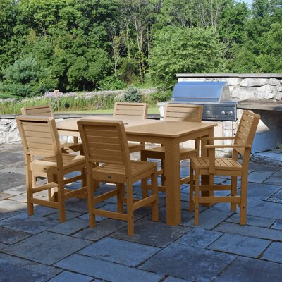 Berry 7 Piece Bar Height Dining Set Finish: Toffee