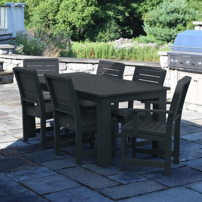 Berry 7 Piece Dining Set Finish: Black