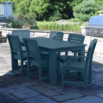Berry 7 Piece Dining Set Finish: Nantucket Blue