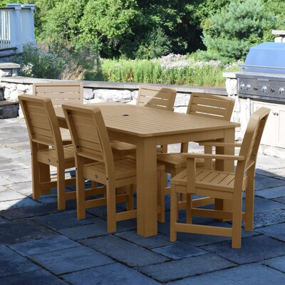Berry 7 Piece Dining Set Finish: Toffee