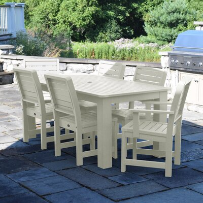 Berry 7 Piece Dining Set Finish: Whitewash