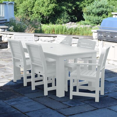 Berry 7 Piece Dining Set Finish: White