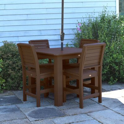 Berry 5 Piece Bar Height Dining Set Finish: Weathered Acorn