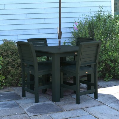 Berry 5 Piece Bar Height Dining Set Finish: Charleston Green