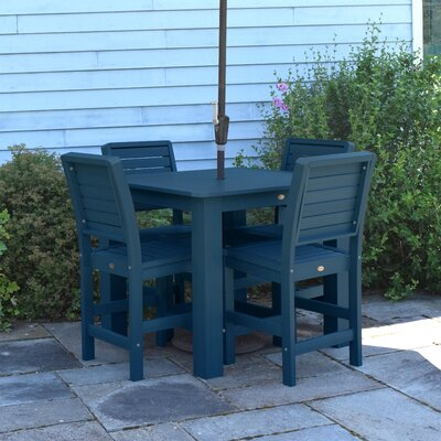 Berry 5 Piece Bar Height Dining Set Finish: Nantucket Blue