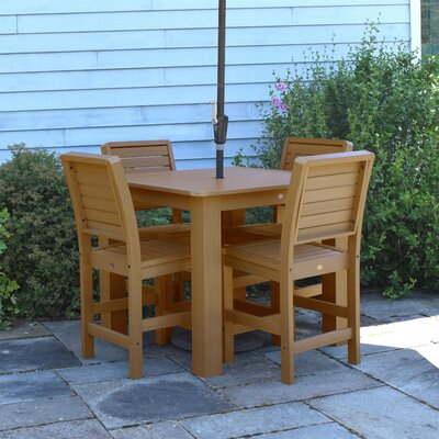 Berry 5 Piece Bar Height Dining Set Finish: Toffee
