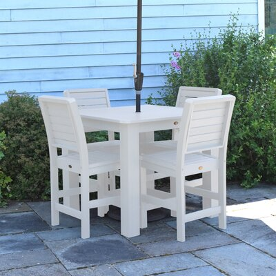 Berry 5 Piece Bar Height Dining Set Finish: White