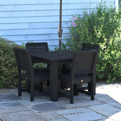 Berry 5 Piece Dining Set Finish: Black