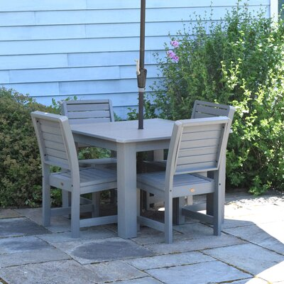 Berry 5 Piece Dining Set Finish: Coastal Teak