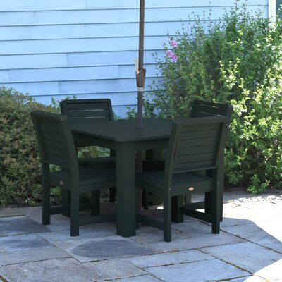 Berry 5 Piece Dining Set Finish: Charleston Green