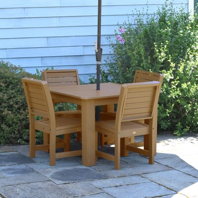 Berry 5 Piece Dining Set Finish: Toffee
