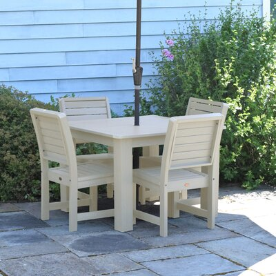 Berry 5 Piece Dining Set Finish: Whitewash