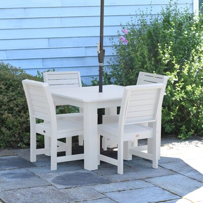 Berry 5 Piece Dining Set Finish: White