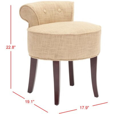 Osteler Vanity Stool Color: Gold