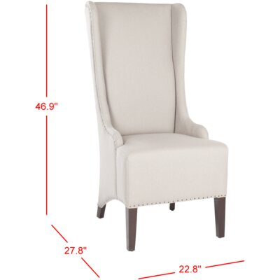 Parris Side Chair Upholstery: Taupe with Nailhead Trim