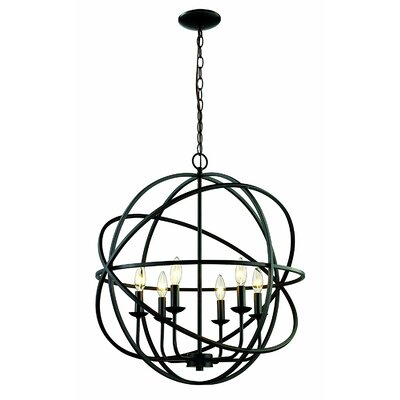 Baitz 6-Light Globe Pendant Finish: Rubbed Oil Bronze