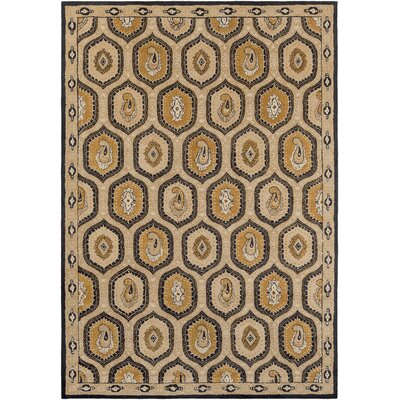 Edgington Bernfel Dark Khaki Area Rug Rug Size: Rectangle 33 x 53