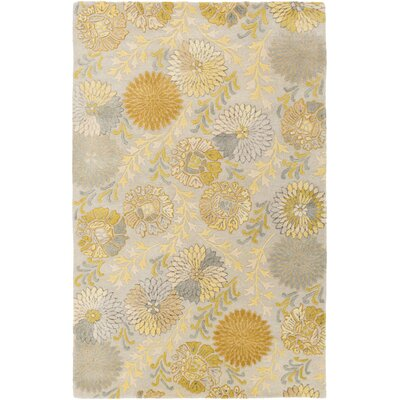 Keith Gold Floral Area Rug Rug Size: Rectangle 2 x 3