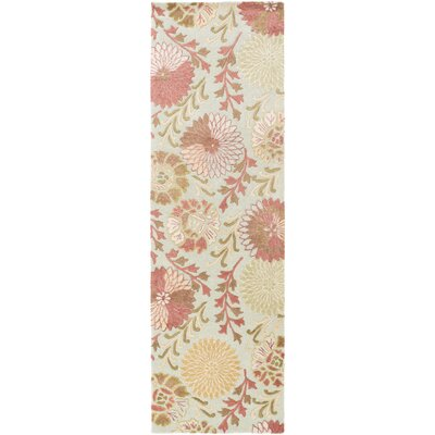 Keith Moss Floral Area Rug Rug Size: Runner 26 x 8