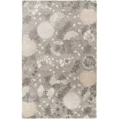 Keith Hand-Tufted Gray Area Rug Rug Size: 2 x 3