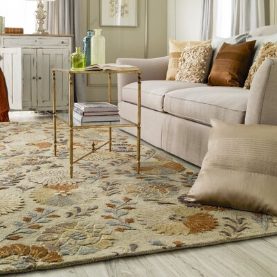 Keith Beige Floral Area Rug Rug Size: 2 x 3