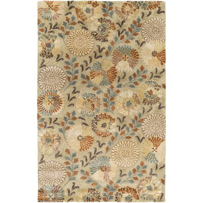 Keith Beige Floral Area Rug Rug Size: Rectangle 5 x 8