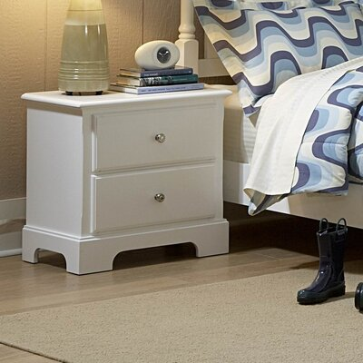 Rotonda 2 Drawer Nightstand Color: White