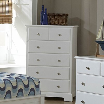 Belaview 5 Drawer Chest Color: White