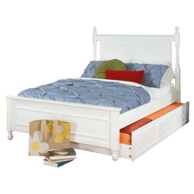 Belaview Platform Bed with Trundle Size: Twin, Finish: White