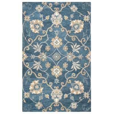 Venedy Hand-Tufted Blue Area Rug Size: Rectangle 5 x 8