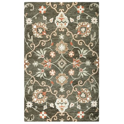 Venedy Hand-Tufted Wool Brown Area Rug Size: Rectangle 5 x 8