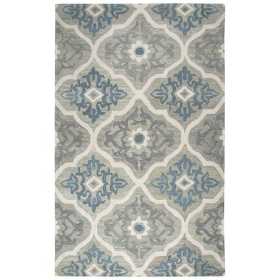 Venedy Hand-Tufted Wool Blue/Gray Area Rug Size: Rectangle 9 x 12