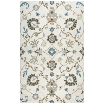 Venedy Hand-Tufted Beige Area Rug Size: 5 x 8