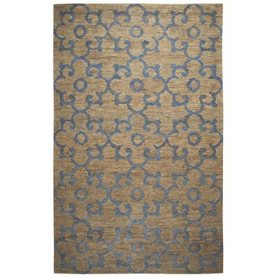Jeffcoat Hand-Woven Natural Area Rug Size: 5 x 8