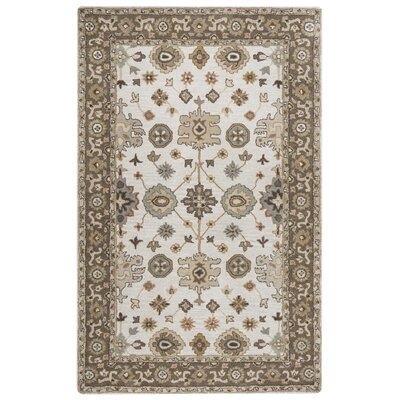 Lamothe Hand-Tufted Light Gray Area Rug Rug Size: 5 x 8