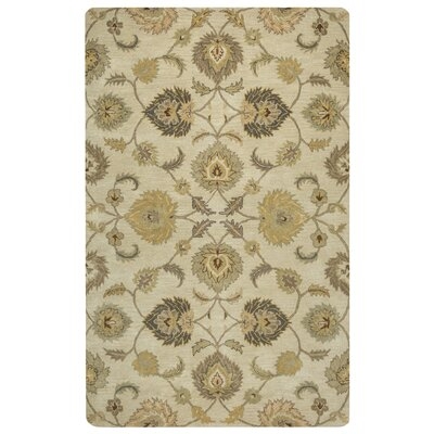 Lamothe Hand-Tufted Tan Area Rug Rug Size: 5 x 8