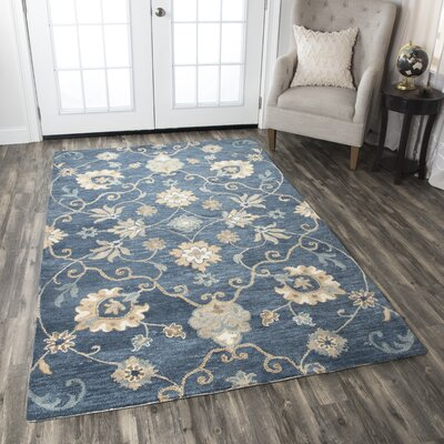 Venedy Hand-Tufted Blue Area Rug Size: Rectangle 8 x 10