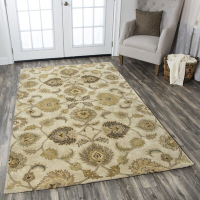 Lamothe Hand-Tufted Tan Area Rug