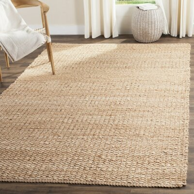Hand-Woven Natural Fiber Area Rug Rug Size: Rectangle 3 x 5