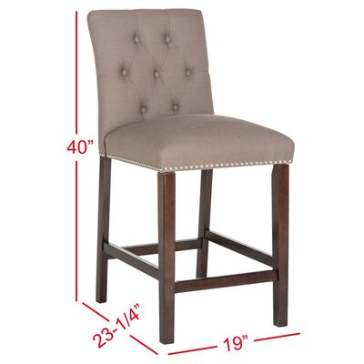 Gowans 27.5 Bar Stool Upholstery: Dark Taupe