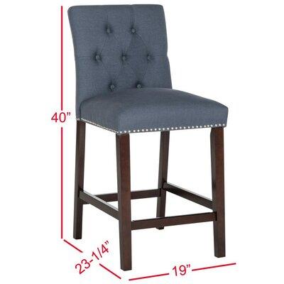 Gowans 27.5 inch Bar Stool Upholstery: Navy