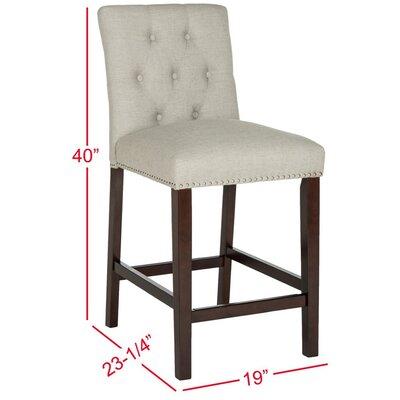 Gowans 27.5 inch Bar Stool Upholstery: Light Gray